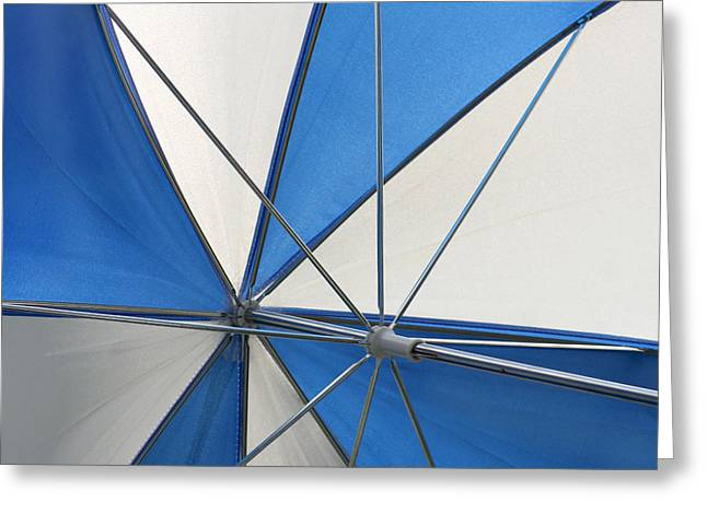 Sunbathing Greeting Cards - Beach Umbrella Greeting Card by Art Block Collections