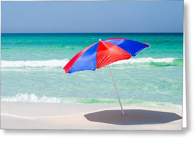 Recently Sold -  - Sand Pattern Greeting Cards - Beach Umbrella Greeting Card by Shelby  Young