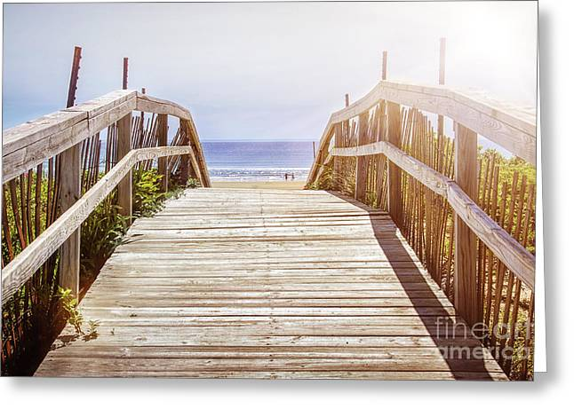 Weekend Photographs Greeting Cards - Beach view Greeting Card by Elena Elisseeva