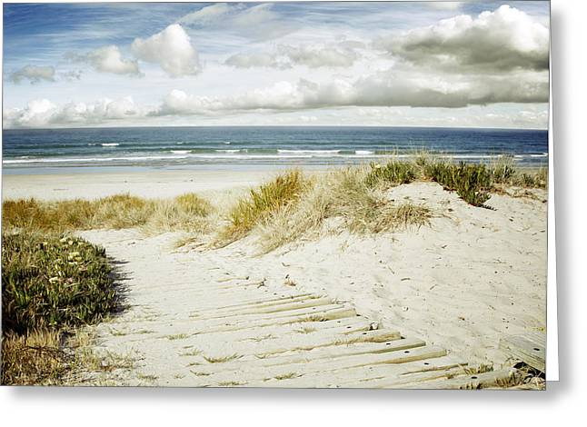 Scenery Greeting Cards - Beach view Greeting Card by Les Cunliffe