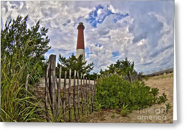 Sand Fences Photographs Greeting Cards - Beach View of Barney Greeting Card by Mark Miller