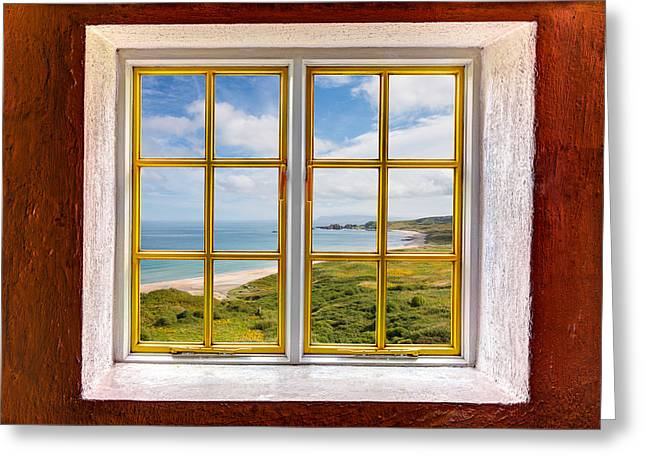 Looking Out Side Greeting Cards - Beach View Greeting Card by Semmick Photo