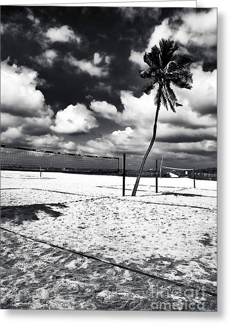 Beach Images Greeting Cards - Beach Volleyball Greeting Card by John Rizzuto