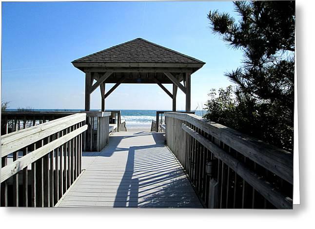 Beach Walk Greeting Card by Silvie Kendall