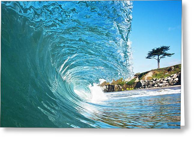 Surfing Art Greeting Cards - Beach Wave Greeting Card by Paul Topp