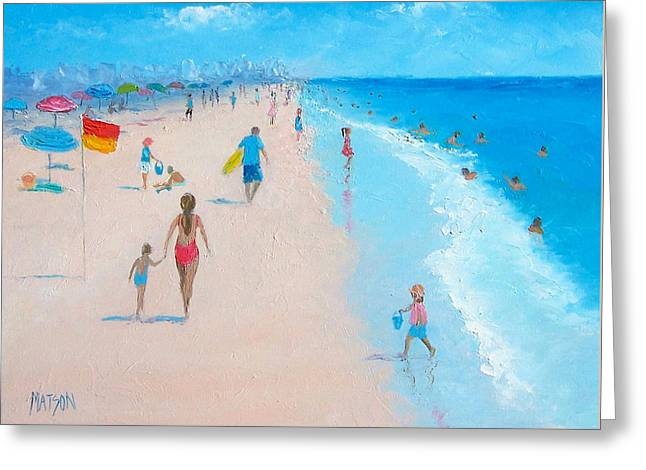 Beach Cottage Style Greeting Cards - Beach Weather Greeting Card by Jan Matson