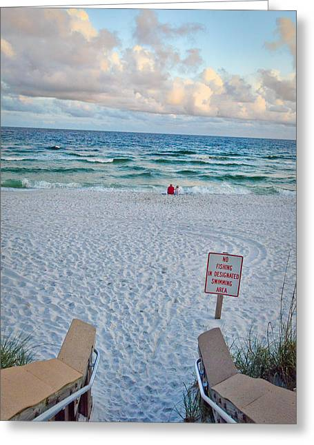 Navarre Beach Photographs Greeting Cards - Beach Welcome Greeting Card by Irene Nicole Photography