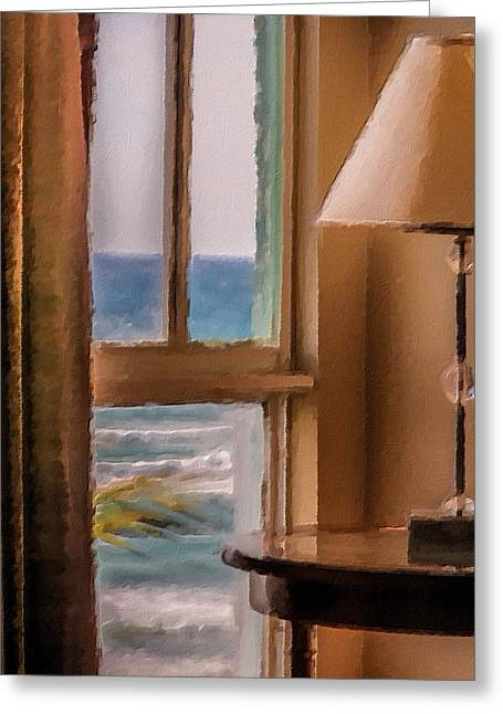 Beach Window Greeting Card by Andrea  OConnell