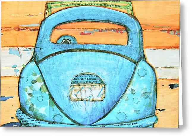 Vw Beetle Greeting Cards - Beachbound Greeting Card by Danny Phillips