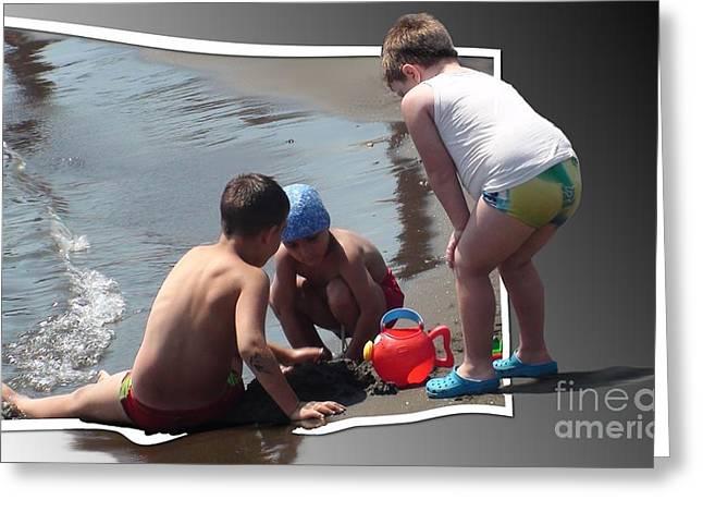 Beachboy Greeting Cards - Beachboys Greeting Card by Debra Chmelina