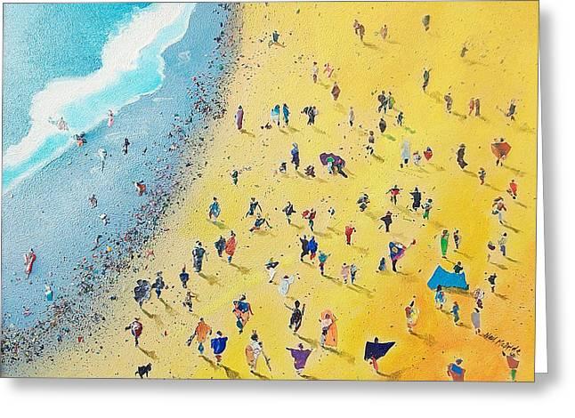 Coastal Greeting Cards - Beachcombing Greeting Card by Neil McBride