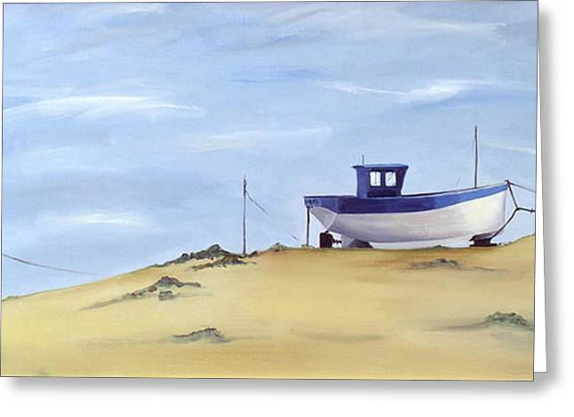 Beach Landscape Greeting Cards - Beached Greeting Card by Ana Bianchi