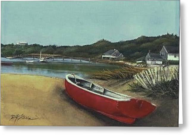 Sand Fences Mixed Media Greeting Cards - Beached Boat Greeting Card by Diane Strain
