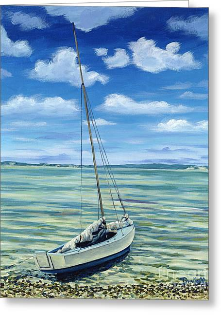 Bateau Greeting Cards - Beached Greeting Card by Danielle  Perry