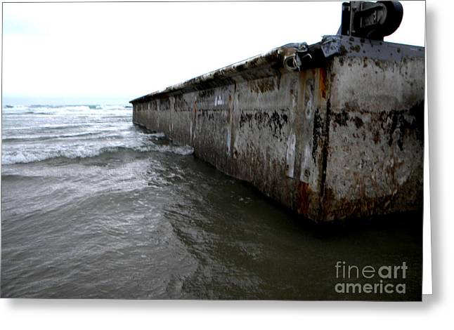 Agate Beach Oregon Greeting Cards - Beached Dock Greeting Card by Thedustyphoenix