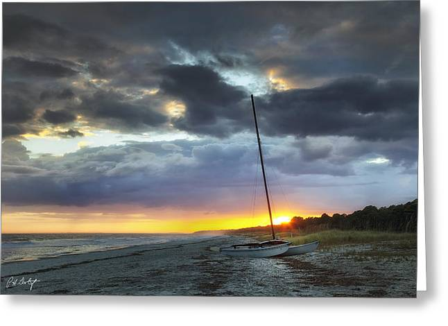 Beached For The Night Greeting Card by Phill Doherty