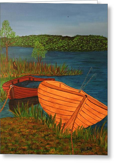 Canadian Sports Artist Greeting Cards - Beached Till The Next Time Greeting Card by Doug Wilkie