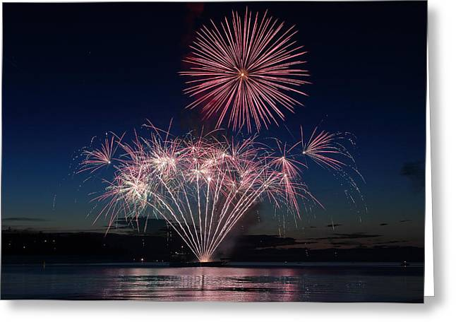 Pyrotechnics Greeting Cards - Beachfest Fireworks 2013 Greeting Card by Randy Hall