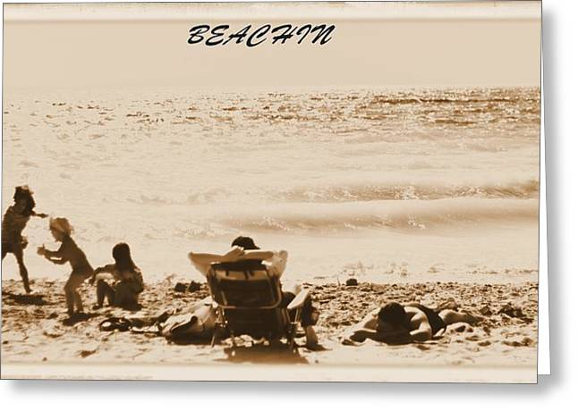 Beach Towel Greeting Cards - Beachin Greeting Card by Dan Sproul