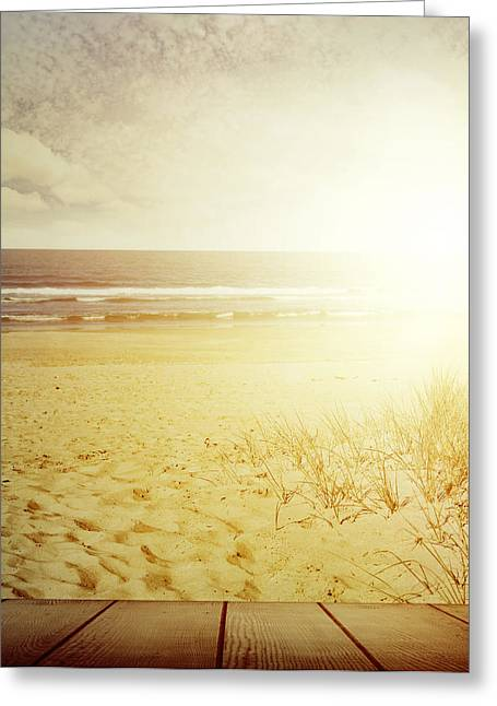 Beach Photos Greeting Cards - Beachlight Greeting Card by Les Cunliffe
