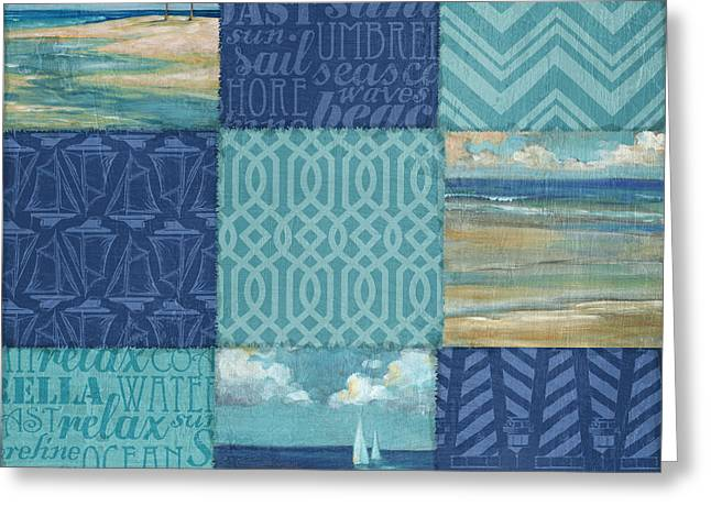 Beachscape Greeting Cards - Beachscape Patchwork I Greeting Card by Paul Brent