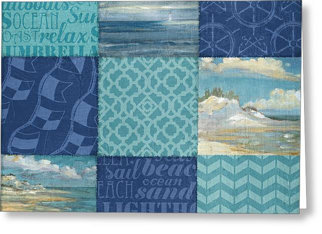 Beachscape Greeting Cards - Beachscape Patchwork II Greeting Card by Paul Brent