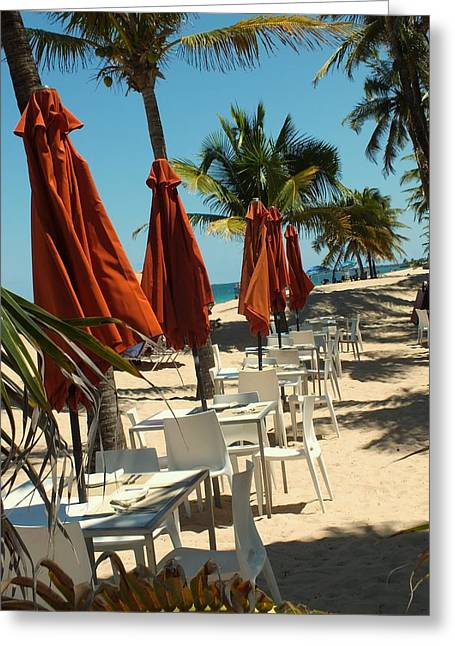 Al Fresco Greeting Cards - Beachside Greeting Card by Tg Devore
