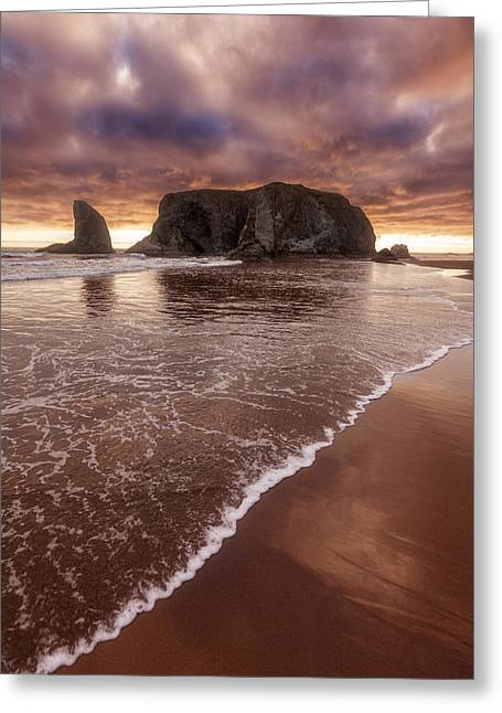 Sunset Greeting Cards Greeting Cards - Beachwalk Greeting Card by Darren  White