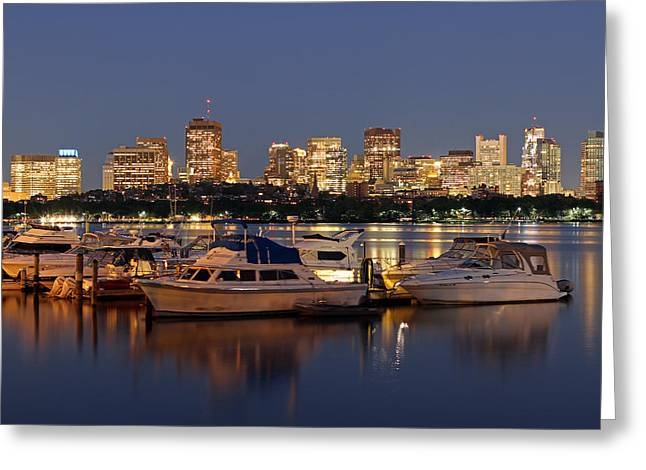 Charles River Greeting Cards - Beacon Hill and Charles River Yacht Club Greeting Card by Juergen Roth