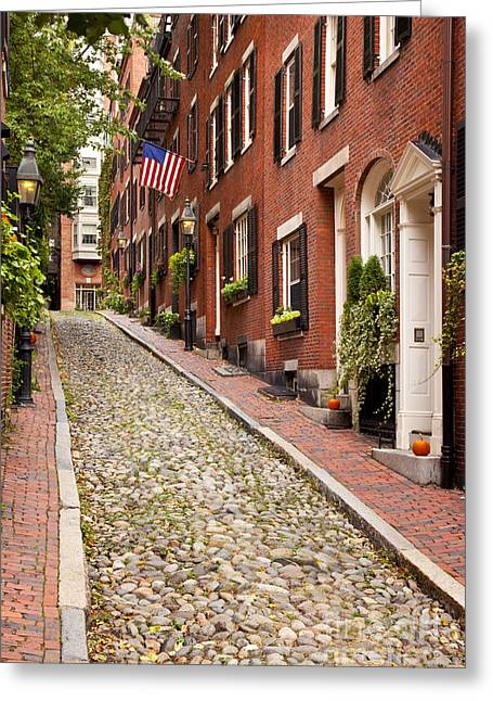 Acorn Greeting Cards - Beacon Hill Greeting Card by Brian Jannsen