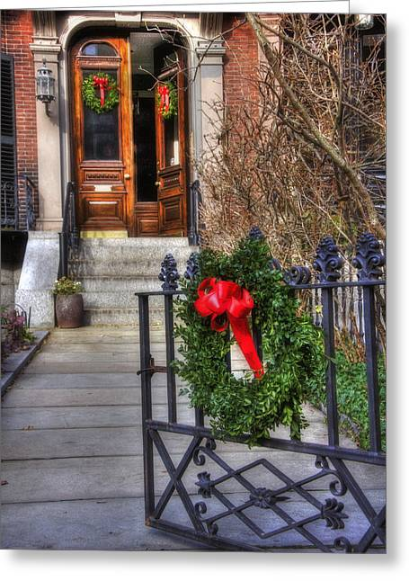 Desirable Greeting Cards - Beacon Hill Doors Greeting Card by Joann Vitali