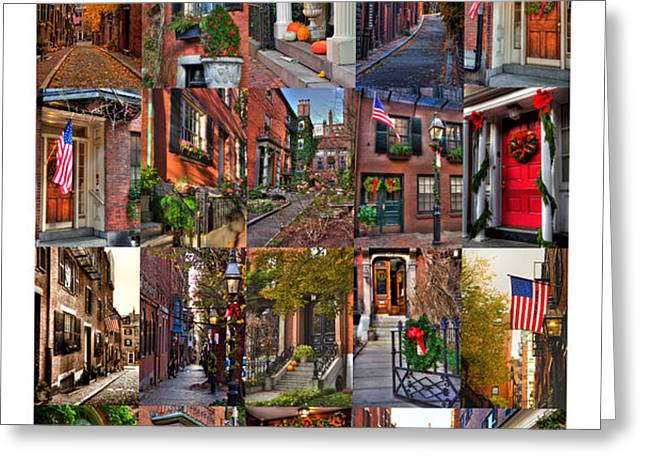 Beacon Hill - Poster Greeting Card by Joann Vitali