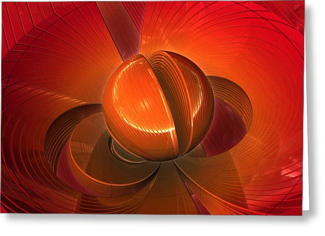 Surreal Geometric Greeting Cards - Beacon Greeting Card by Kevin Trow