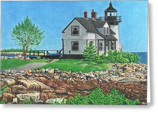 Prospects Drawings Greeting Cards - Beacon of Hope Greeting Card by Troy Levesque