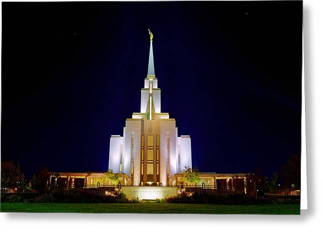 Temple West Greeting Cards - Beacon of Light Greeting Card by Dustin  LeFevre