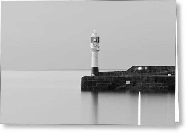 Harbour Wall Greeting Cards - Beacon Greeting Card by Richard Thomas