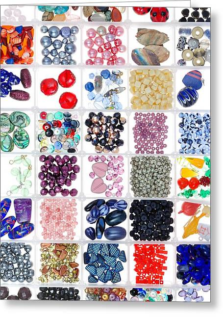 Bracelet Greeting Cards - Bead Box Greeting Card by Jim Hughes
