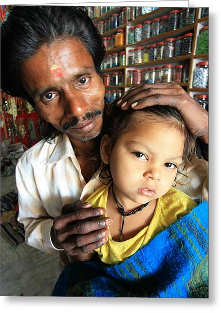 Crafts For Kids Greeting Cards - Bead Seller Varanasi India Greeting Card by Amanda Stadther