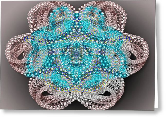 Manley Greeting Cards - Beaded Kaleidoscope  Greeting Card by Gina Lee Manley