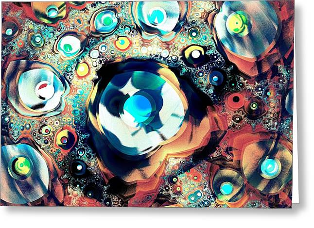 Treasures Mixed Media Greeting Cards - Beads Greeting Card by Anastasiya Malakhova