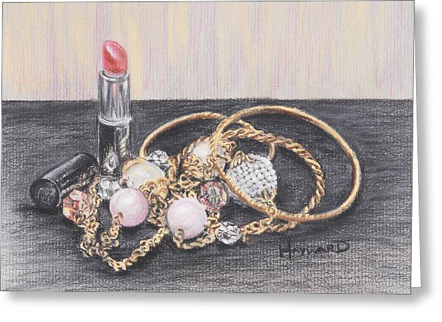 Lipstick Pastels Greeting Cards - Beads and Bangles Greeting Card by Lucy Hayward