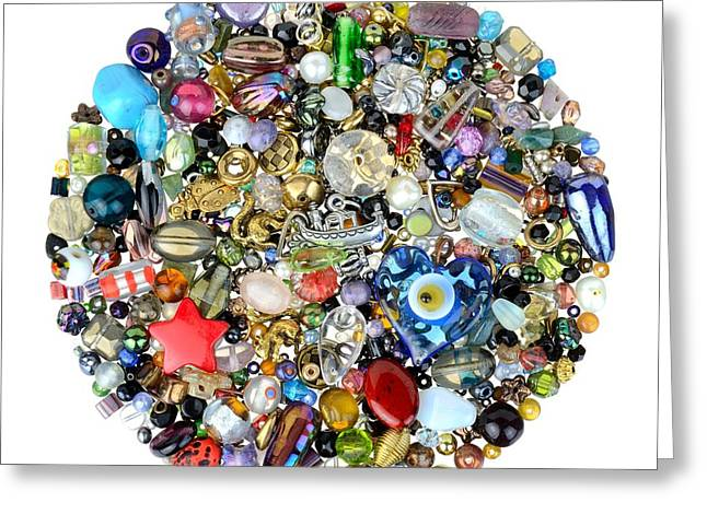 Beads Greeting Cards - Beads and Charms Greeting Card by Jim Hughes