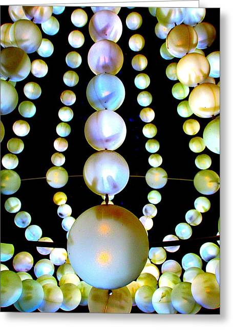 Beads Greeting Card by Randall Weidner