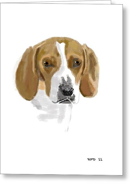 Owner Digital Art Greeting Cards - Beagle Greeting Card by Bob Donner