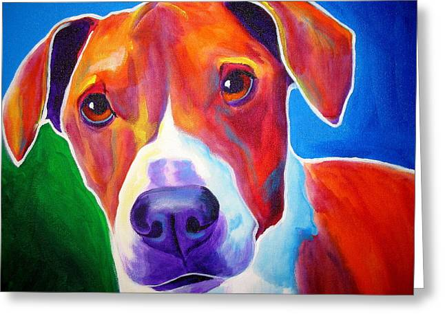 Beagle - Copper Greeting Card by Alicia VanNoy Call