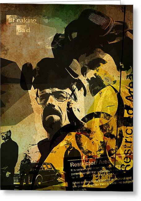 Alternative Home Decor Greeting Cards - Breaking Bad poster Greeting Card by Albert Lewis