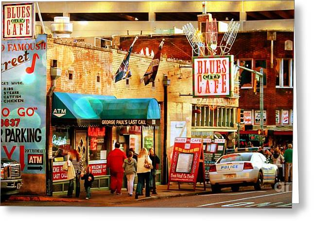 Las Cruces Digital Art Greeting Cards - Beale Street Greeting Card by Barbara Chichester