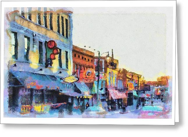 And Jerry Lee Lewis Greeting Cards - Beale Street Blues Greeting Card by Barry Jones