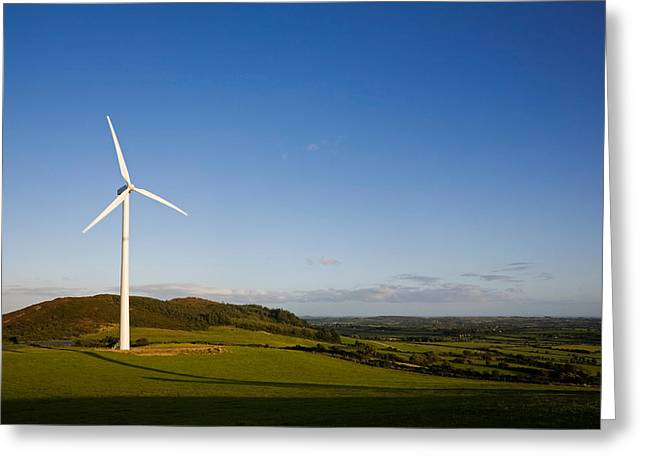 Alternative Energy Greeting Cards - Beallough Windfarm, Above Portlaw Greeting Card by Panoramic Images