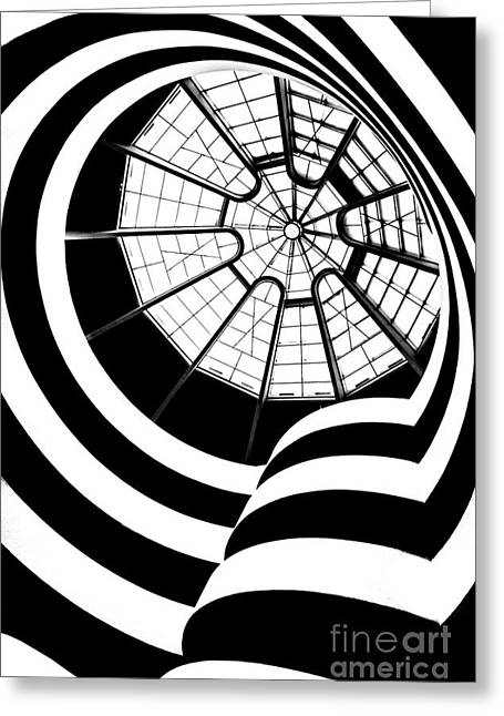 Guggenheim Greeting Cards - Beam Me Up  Greeting Card by Az Jackson
